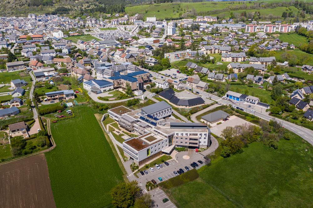 Prise de vue photos drone CHU La mure et environs